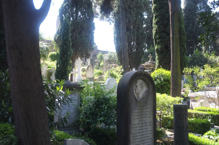 The protestant cemetery in Rome