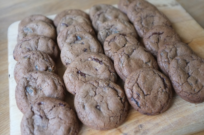 Chunky Chocolate and Ginger Cookies