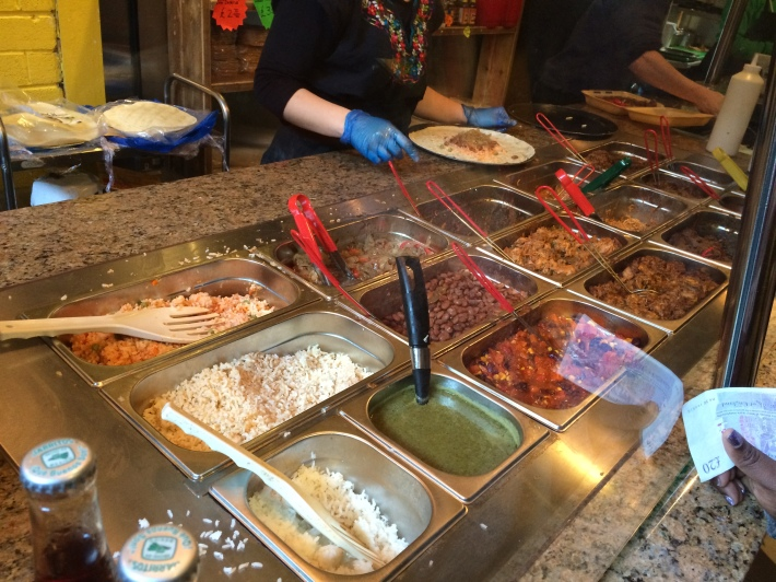 Pancho's food counter